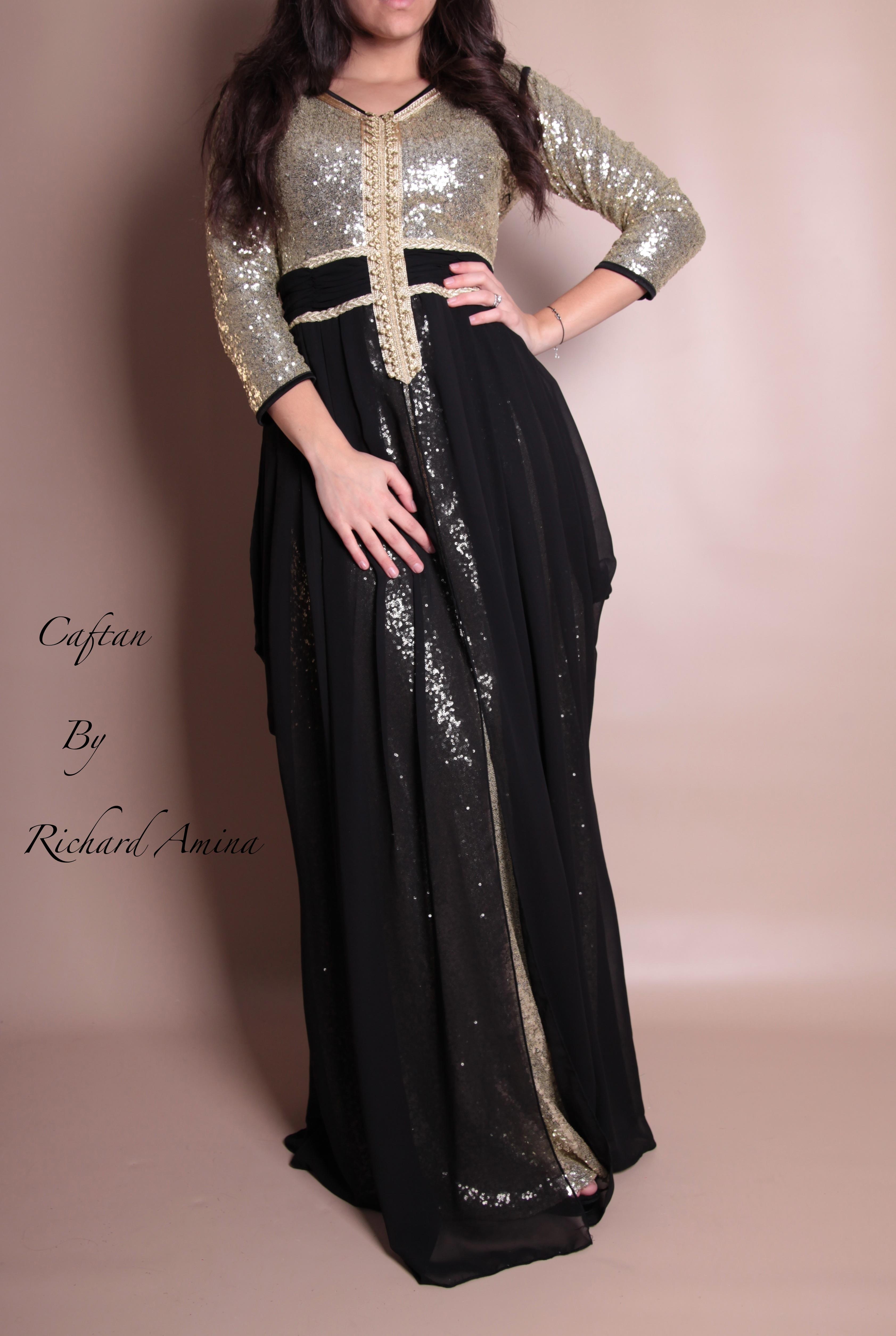 robe dubai noir et argent