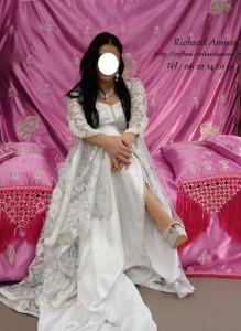 ensemble henne et robe marié argent