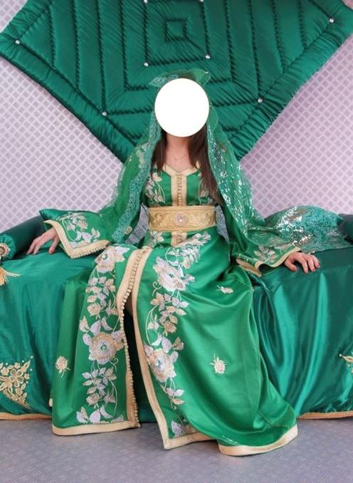 ensemble marié vert