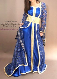 takchita bleu roi pour mariage